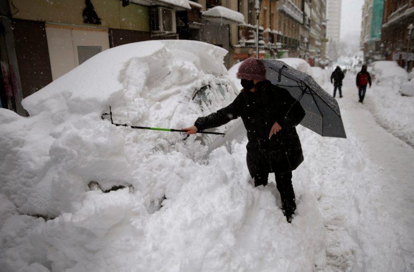 Ο σφοδρός χιονιάς στην Ισπανία κινείται προς Ελλάδα – Πότε θα χτυπήσει