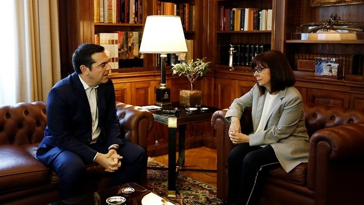 Συνάντηση Τσίπρα με την Πρόεδρο της Δημοκρατίας
