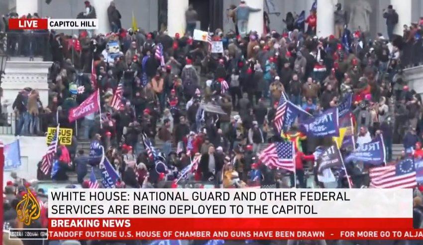 VIDEO Οι ΗΠΑ στο χάος – Πρωτόγνωρη εισβολή οπαδών του Τραμπ στο Καπιτώλιο