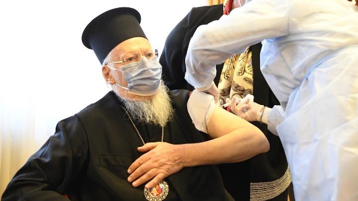 Εμβολιάστηκε κατά του κοροναϊού ο Οικουμενικός Πατριάρχης Βαρθολομαίος