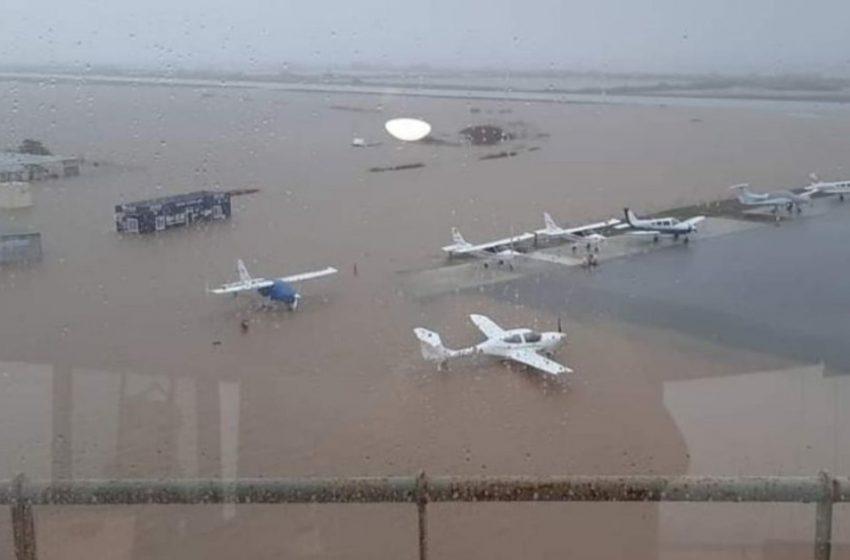 Λίμνη το αεροδρόμιο στην Αλεξανδρούπολη