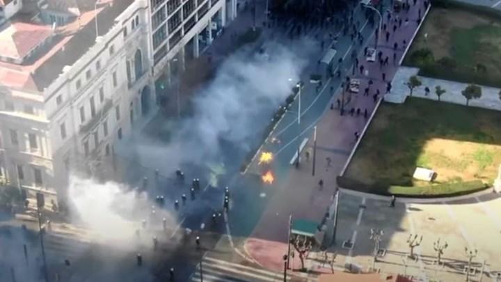 Βίντεο της ΕΛ.ΑΣ. για τα χθεσινά επεισόδια στην Αθήνα όπως καταγράφηκαν από drone