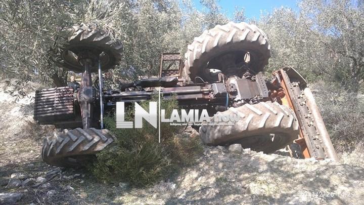 Τραγωδία με δύο νεκρούς στη Φθιώτιδα – Καταπλακώθηκαν από τρακτέρ