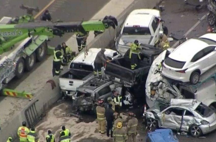 Καραμπόλα 100 οχημάτων στο Τέξας με νεκρούς και τραυματίες