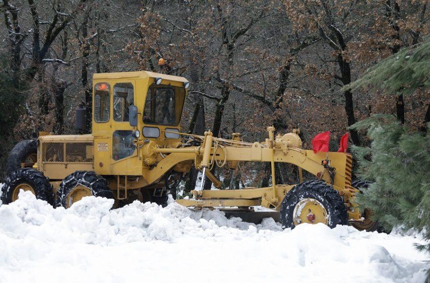 ΠΡΟΣΟΧΗ: Κλειστοί δρόμοι στην Αττική λόγω χιονόπτωσης