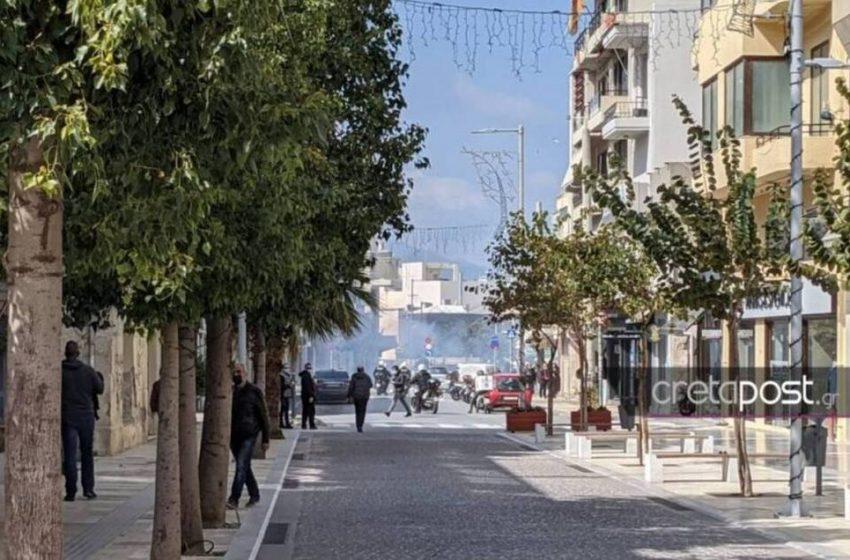 Ένταση στην συγκέντρωση για τον Κουφοντίνα στο Ηράκλειο