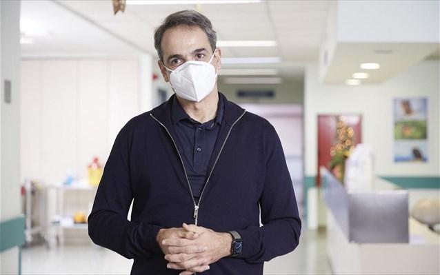Ο Μητσοτάκης ευχαριστεί τα στελέχη των Ένοπλων Δυνάμεων για τη συνδρομή τους στο έργο των εμβολιασμών