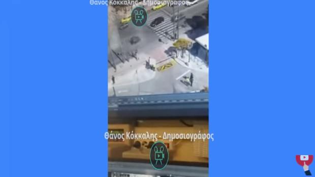 Καρέ καρέ το δυστύχημα στη Βουλή – Το κατέγραψε κάμερα ασφαλείας  (vid)