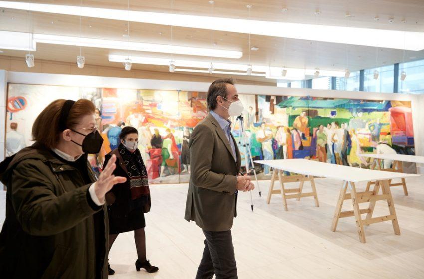Επίσκεψη Μητσοτάκη στην ανακαινισμένη Εθνική Πινακοθήκη