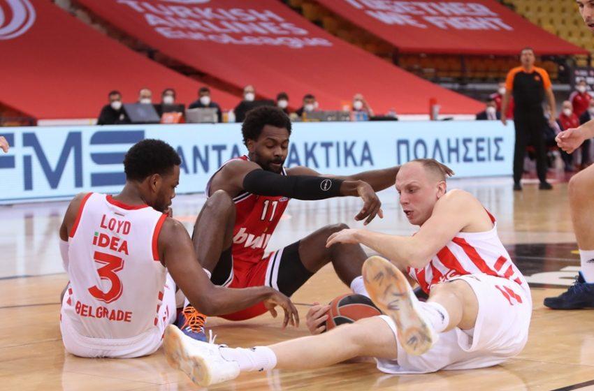 Νίκη επί του Ερυθρού Αστέρα μετά από 7 ήττες για τον Ολυμπιακό
