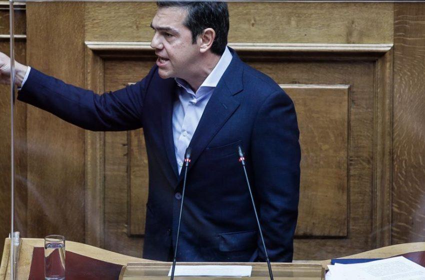 """Βουλή: Παραίτηση Γεωργιάδη για την """"ειδική άδεια"""" για την βάφτιση ζήτησε ο Αλέξης Τσίπρας- Επίθεση για την διαχείριση της πανδημίας"""