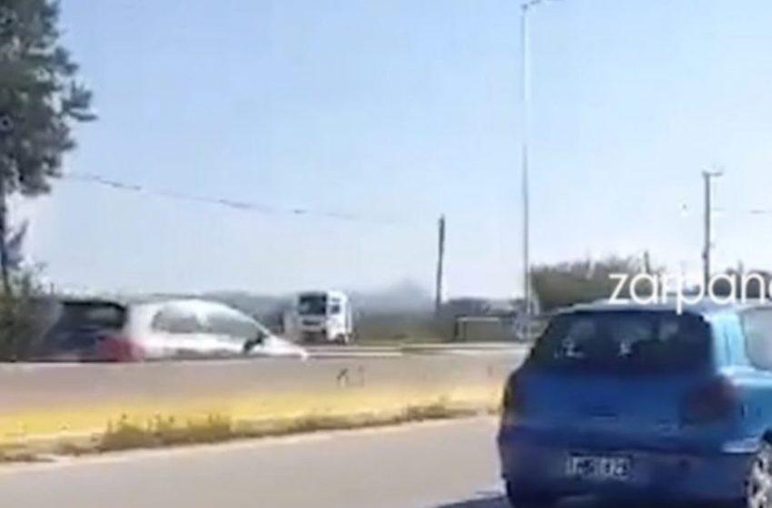 Τρόμος με ηλικιωμένο που οδηγούσε ανάποδα στην Εθνική οδό (vid)