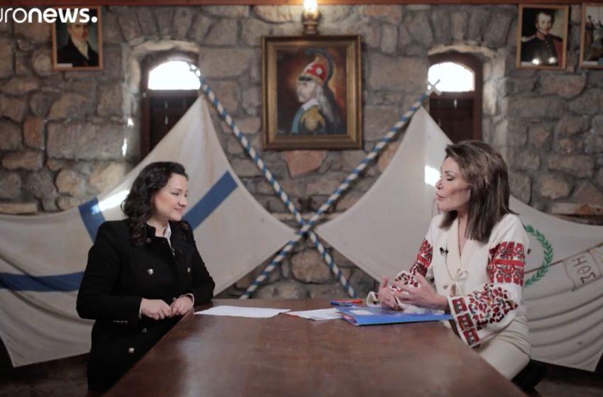 """Αγγελοπούλου στο euronews: """"Μας ενδιαφέρει η σφραγίδα που θα αφήσουμε στο μέλλον"""" (vid)"""