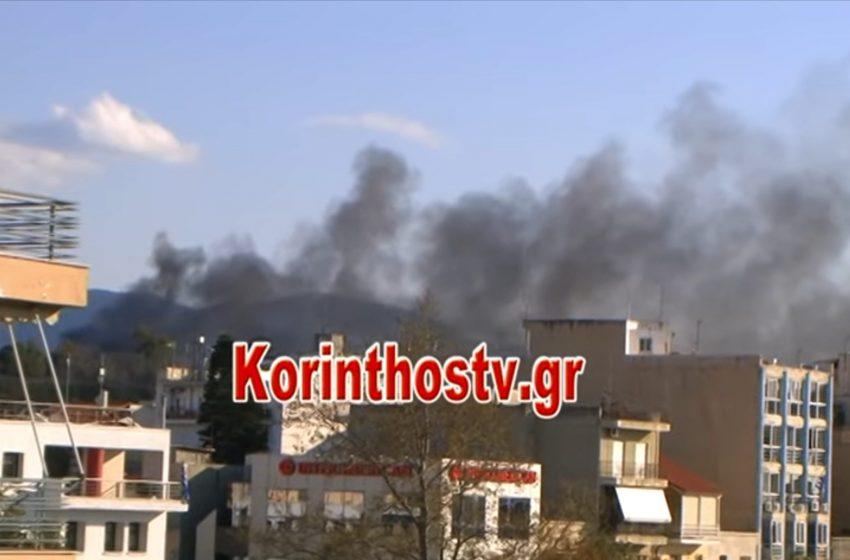 Εξέγερση προσφύγων με φωτιές και πετροπόλεμο στην Κόρινθο