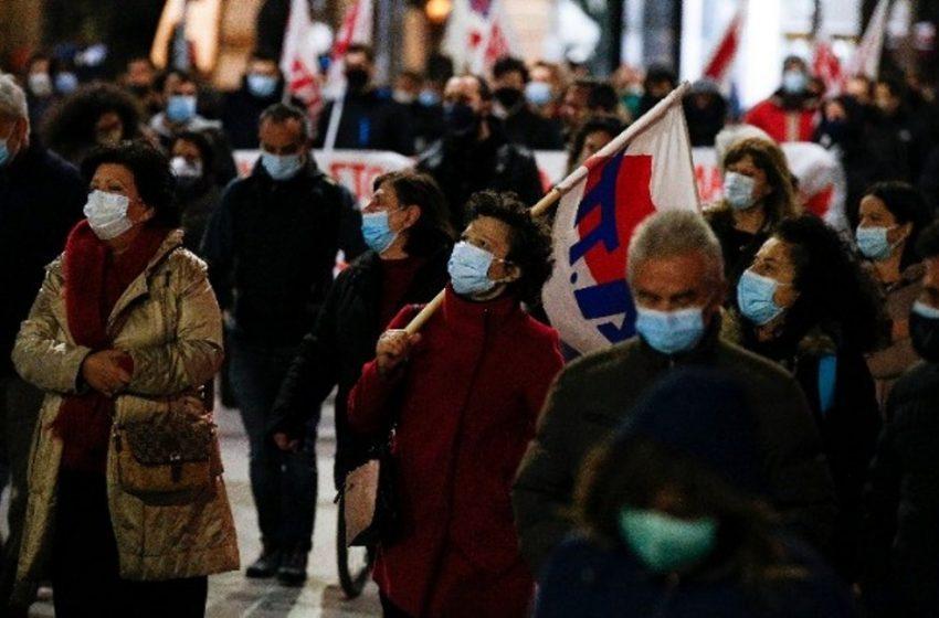 Θεσσαλονίκη: Συγκέντρωση και πορεία για την διαχείριση της πανδημίας