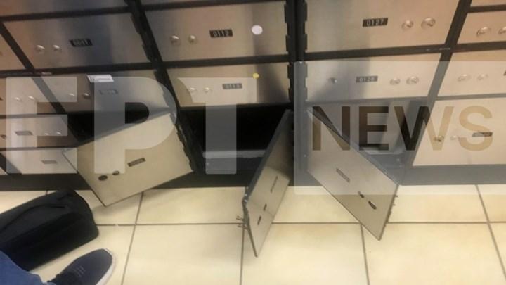 Εικόνες-ντοκουμέντο από τις παραβιασμένες τραπεζικές θυρίδες στο Ψυχικό