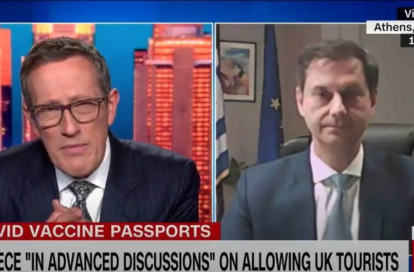 Αισιοδοξία για το πιστοποιητικό εμβολιασμού εξέφρασε ο Χ. Θεοχάρης, μιλώντας στο CNN