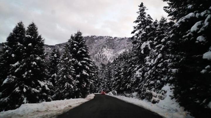 Ξάνθη: Χιόνι ακόμη και στο κέντρο της πόλης