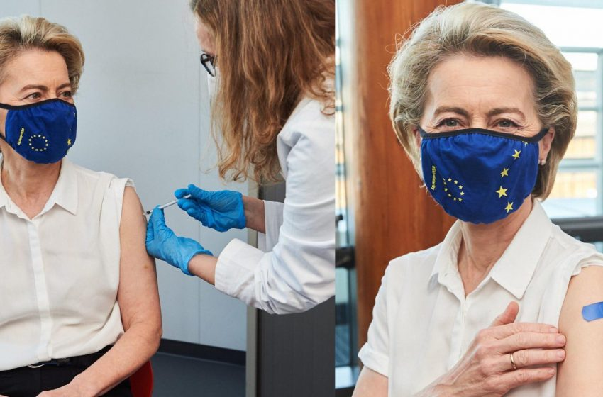 Εμβολιάστηκε κατά του κοροναϊού η Ούρσουλα Φον Ντερ Λάιεν