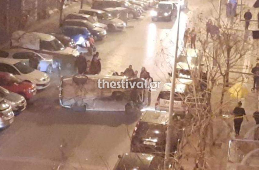 Κινηματογραφική ανατροπή οχήματος στη Θεσσαλονίκη – Εξαφανίστηκε η οδηγός (vid)