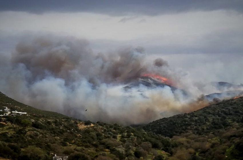 Σε εξέλιξη πυρκαγιά στην Άνοιξη Αττικής