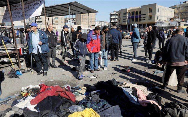 """Το """"Ισλαμικό Κράτος"""" ανέλαβε την ευθύνη για την πολύνεκρη έκρηξη στην αγορά της Βαγδάτης"""