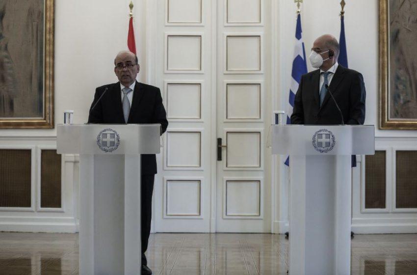 """Συνάντηση Δένδια-Γουάχμπι: """"Κοινός παρονομαστής της προσέγγισής μας ο σεβασμός στο διεθνές δίκαιο"""""""