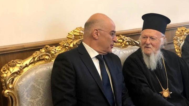 Στην Κωνσταντινούπολη ο Δένδιας – Συνάντηση με τον Οικουμενικό Πατριάρχη