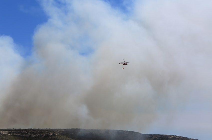 Φωτιά στο Λαύριο – Μεγάλη επιχείρηση της Πυροσβεστικής