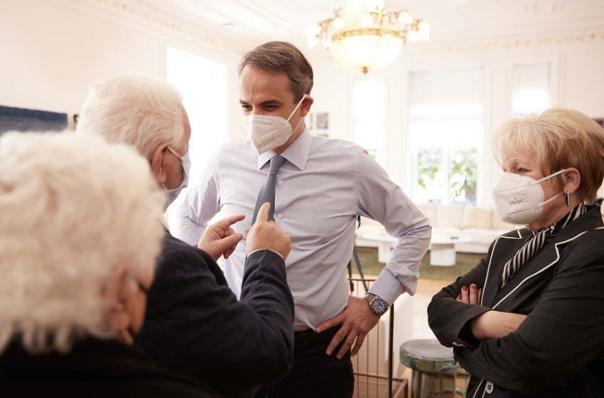 Μητσοτάκης: Nέα έκκληση στους ηλικιωμενους να εμβολιασθούν – Συνάντηση στο Μαξίμου