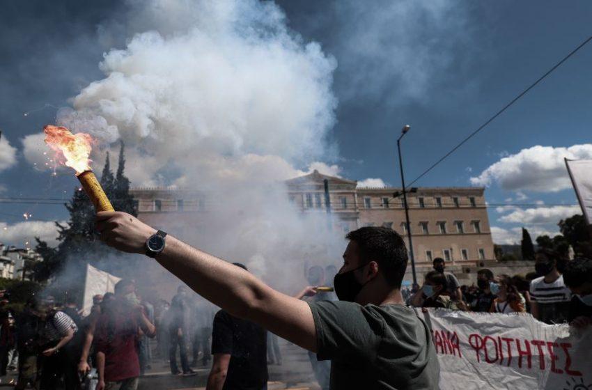 Ενταση μετά το τέλος του πανεκπαιδευτικού στην Αθήνα