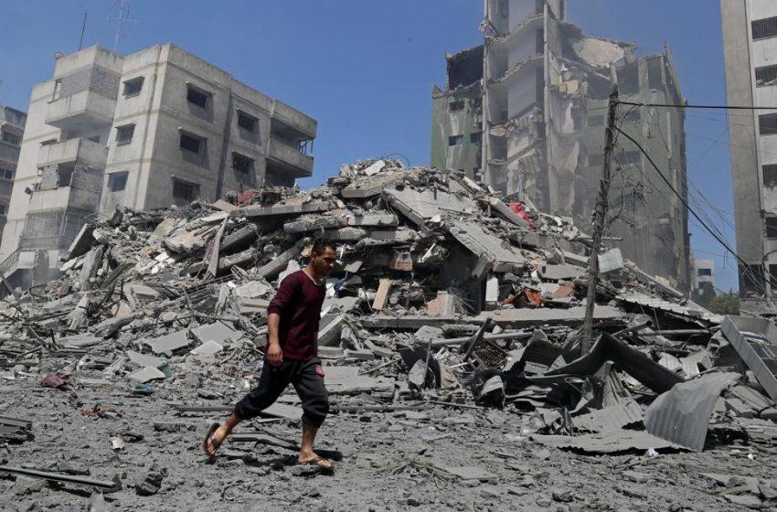 Γάζα: Πλάνα από drone μετά τους βομβαρδισμούς (vid)