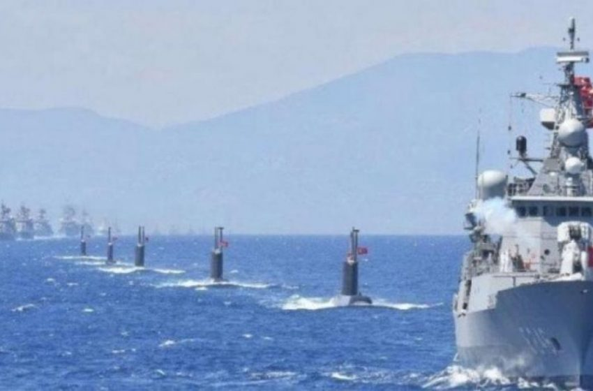 """""""Θαλασσόλυκος 2021"""" : Η Τουρκία βγάζει τον στόλο της σε Αιγαίο και ανατολική Μεσόγειο"""