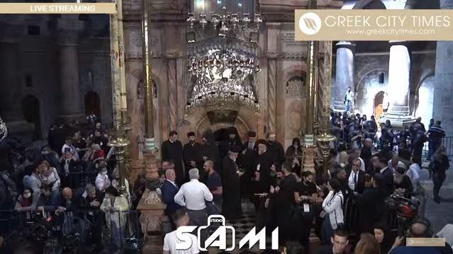 LIVE – Άγιο Φως: Η τελετή αφής στα Ιεροσόλυμα
