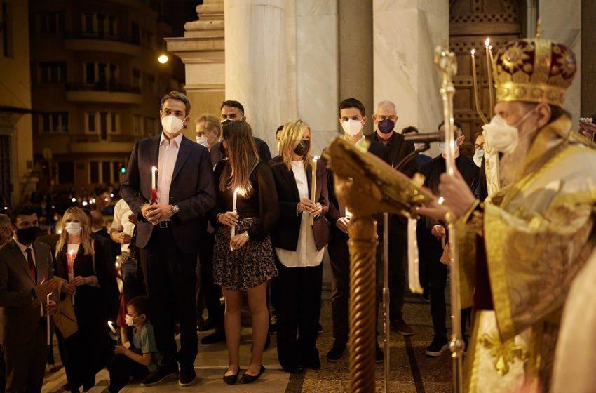Στο  Άγιο Διονύσιο έκανε Ανάσταση ο Κ. Μητσοτάκης