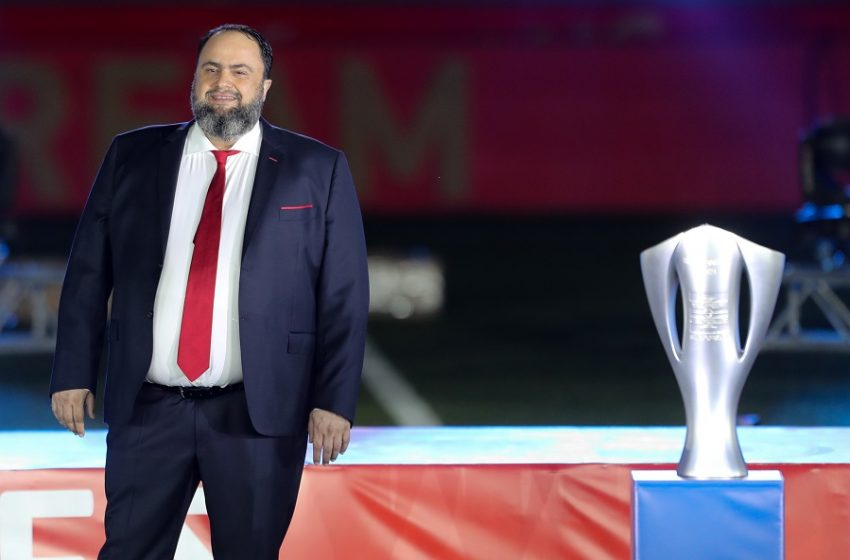 """Μαρινάκης προς τους παίκτες: """"Δώστε τα όλα για να πάρουμε και το Κύπελλο"""""""