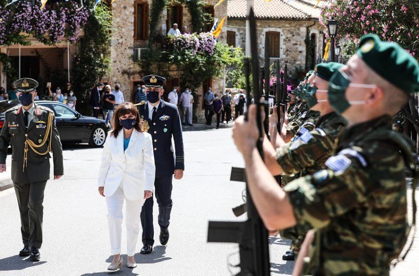 Στον Μυστρά στις εκδηλώσεις για τον Κωνσταντίνο Παλαιολόγο η Σακελλαροπούλου