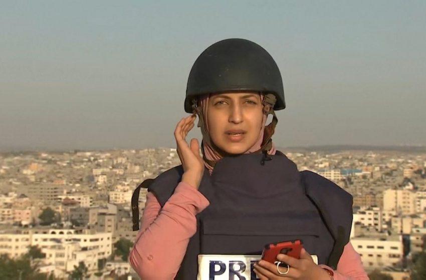 """Τρόμος """"στον αέρα"""" για δημοσιογράφο στην Γάζα (vid)"""