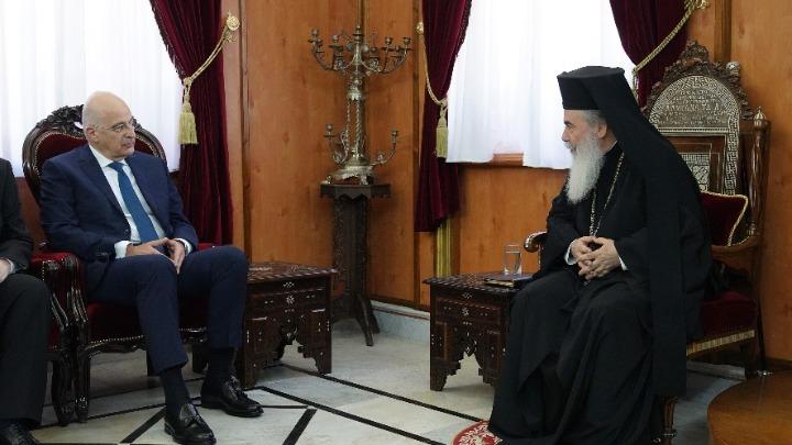Επίσκεψη Δένδια σε Ισραήλ και Παλαιστινιακά Εδάφη- Συνάντηση με τον Πατριάρχη Ιεροσολύμων