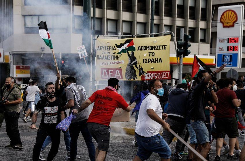 Αθήνα: Συγκέντρωση και επεισόδια έξω από την ισραηλινή πρεσβεία