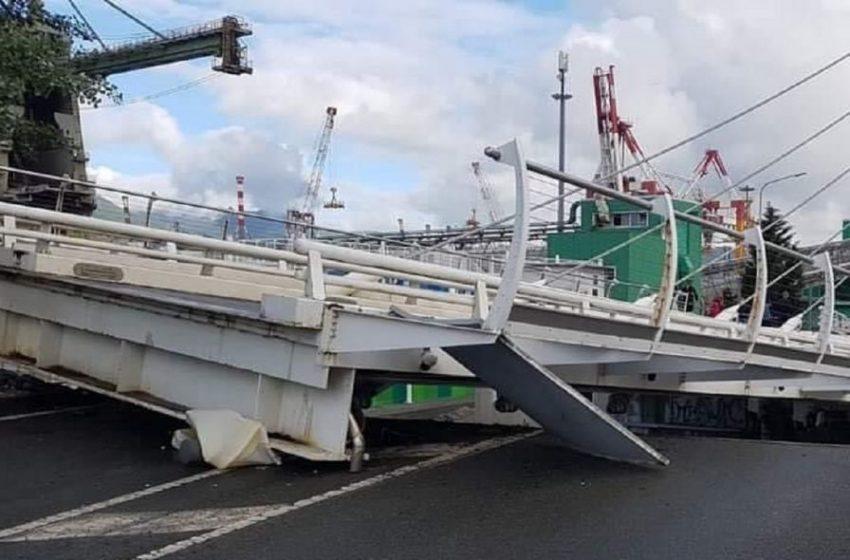 Ιταλία: Κατέρρευσε κινητή γέφυρα (video)