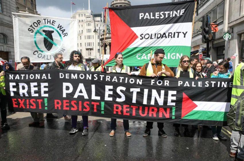 Διαδηλώσεις υπέρ των Παλαιστινίων σε Λονδίνο και Μαδρίτη