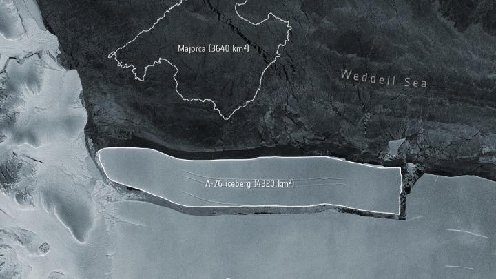 Αποκολλήθηκε από παγετώνα το μεγαλύτερο παγόβουνο του κόσμου – Εχει μήκος 170 χλμ.
