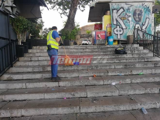Συνεχίζονται τα ξέφρενα πάρτι στις σκάλες Γεροκωστόπουλου στην Πάτρα