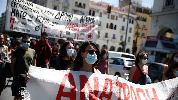 Συγκέντρωση φοιτητών στο κέντρο της Θεσσαλονίκης