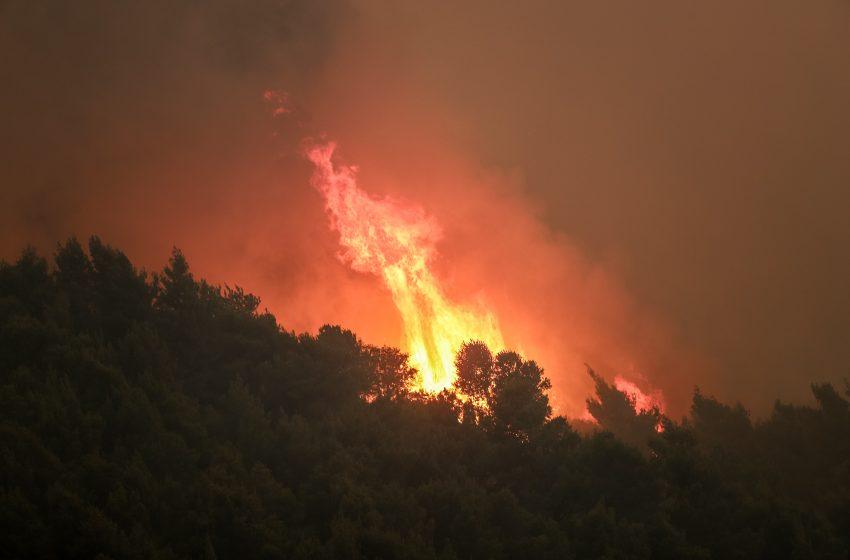 Νέα εστία φωτιάς στο Λουτράκι Κορινθίας