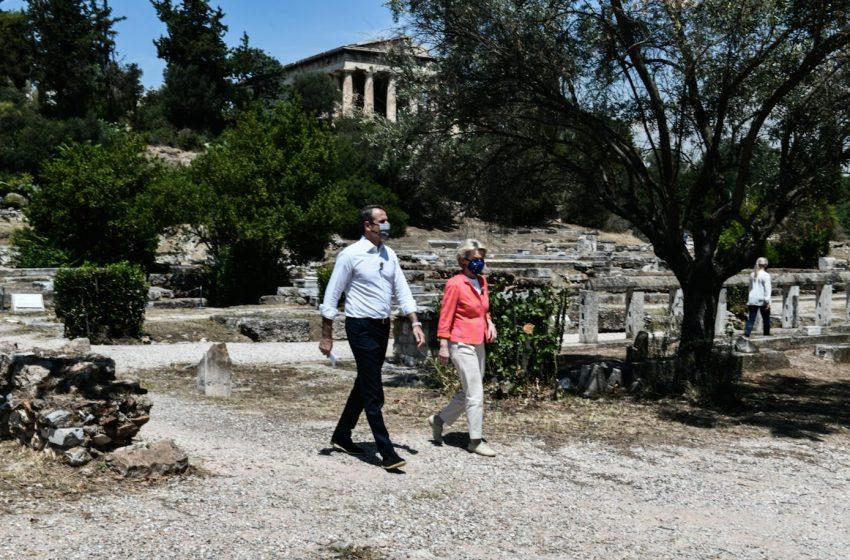 Μητσοτάκης: Ιστορική στιγμή για την Ευρώπη και την Ελλάδα το Σχέδιο Ανάκαμψης – Ντερ Λάιεν: Θα ετοιμάσει την Ελλάδα για το μέλλον