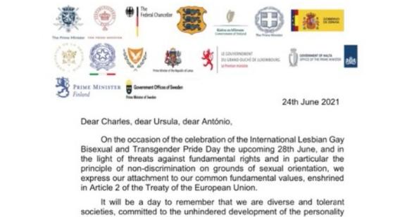 Επιστολή Μητσοτάκη με άλλους Ευρωπαίους ηγέτες για το σεβασμό και την ισότητα της κοινότητας ΛΟΑΤΚΙ