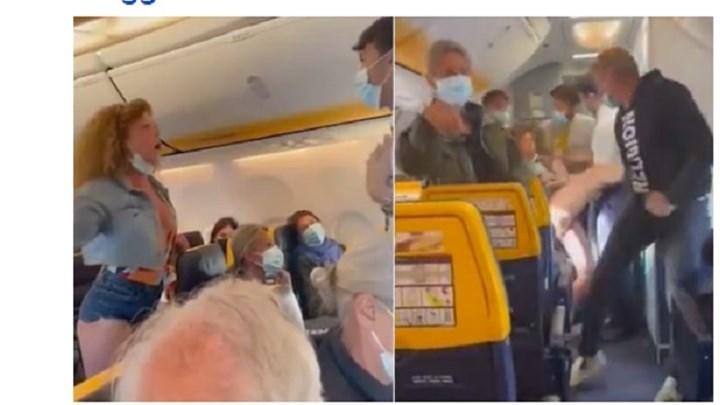 Χαμός σε πτήση λόγω της μάσκας – Γυναίκα έβριζε και έφτυνε τους επιβάτες (vids)