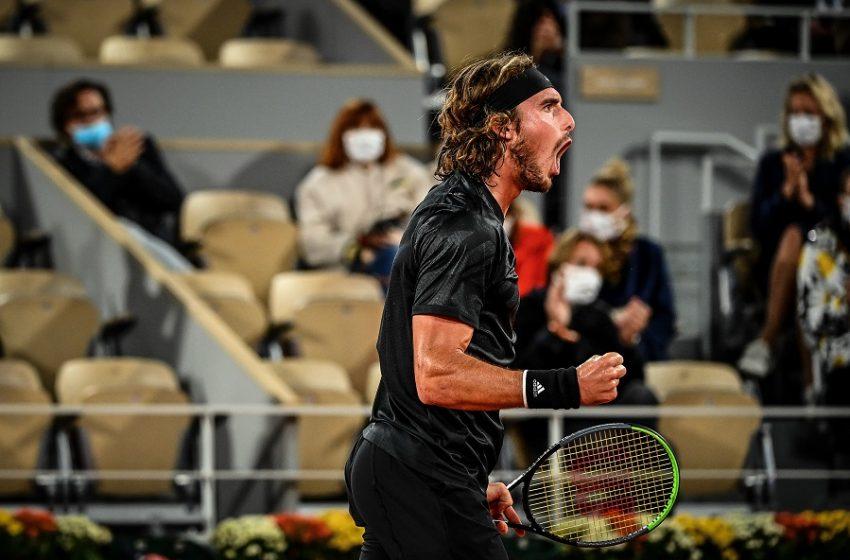Συνεχίζει ακάθεκτος στο Roland Garros ο Τσιτσιπάς